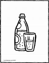 Water Bottle Glass Colouring Sparkling Coloring Pages Drawing Kiddicolour Drink Template Sketch Printable sketch template