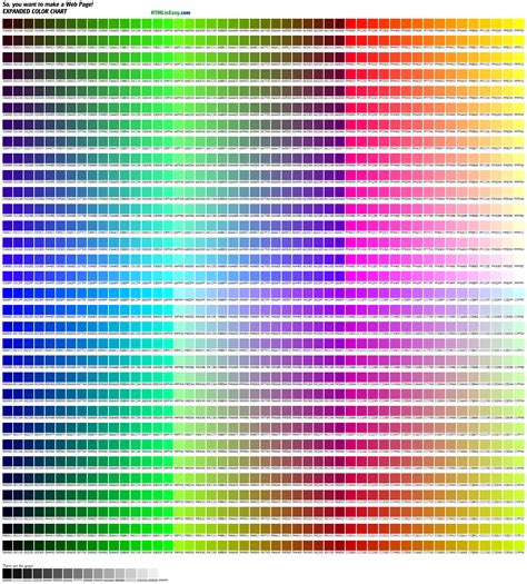 html color table 1536 color chart