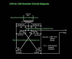 Free Circuit Diagrams 4u  12v To 120v Inverter Circuit Diagram