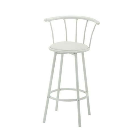 chaise de bistrot blanche bistrot tabouret de bar pivotant bistrot en simili blanc