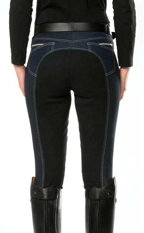 breeches riding seat jeans jean pants denim equestrian english pfiff jodhpurs stretch horse ladies womens outfits bring europe visit rider
