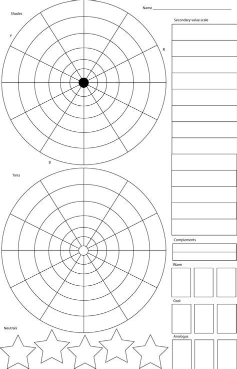 printable color wheel  coloring sheets gianfredanet