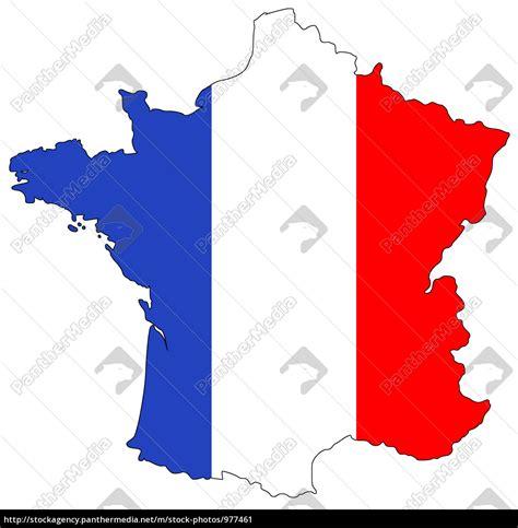 karte von frankreich  nationalfarben lizenzfreies bild