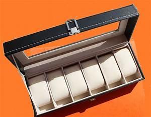 Coffret Rangement Montre : coffret boite ecrin rangement montres 6 montres chrono shop ~ Teatrodelosmanantiales.com Idées de Décoration