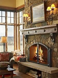 30, Gorgeous, Farmhouse, Fireplace, Mantel, Design, And, Decor, For, Cozy, Winter