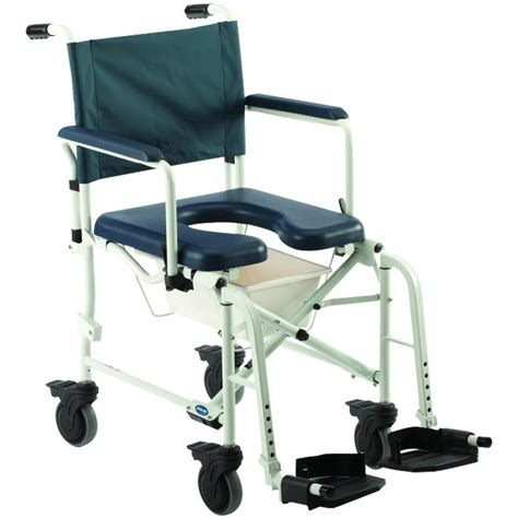 chaise de invacare invacare mariner rehab shower commode chair with 18 inches seat and 5 inches casters