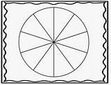 Spinner Clipart Blank Template Printable Clip Wheel Section Cliparts Circle Library Clipground Grade sketch template