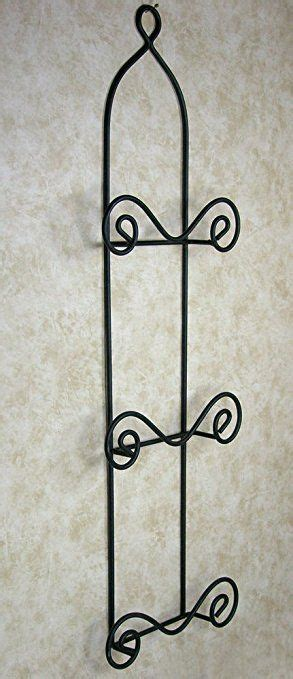 amazoncom  tier vertical plate rack black metal wire wrought iron  swirling spiral scroll