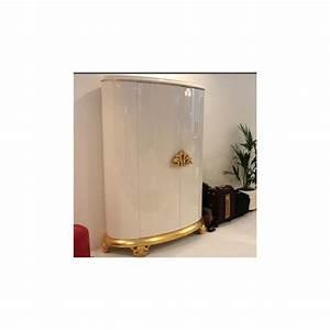 Armoire Blanche 2 Portes : armoire de luxe 2 portes poign es or ou argent avec clairage led milan ~ Teatrodelosmanantiales.com Idées de Décoration