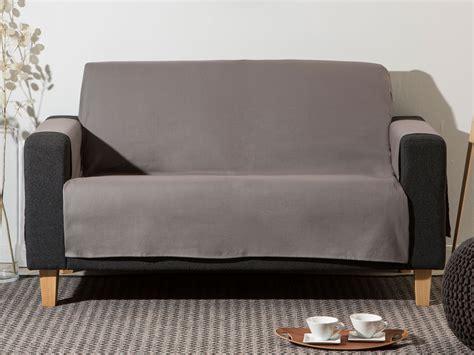 protege fauteuil canape protège canapé 3 places uni forme croix bachette 100