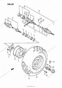 Suzuki Atv 1995 Oem Parts Diagram For Front Wheel  Model H  J  K  L