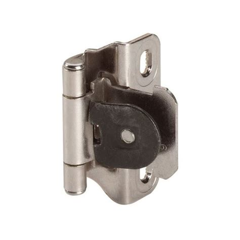 concealed hinges for kitchen cabinets amerock single demountable 1 4 inch overlay hinge nickel 8299