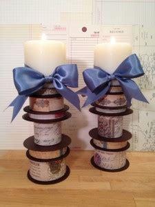 ribbon spool candle holders tombow usa blog
