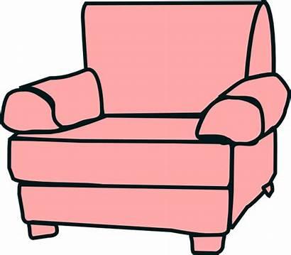 Clipart Furniture Chair Clip Comfy Cliparts Vector