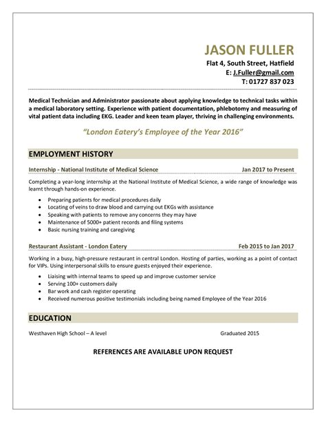 Technician Resume by Technician Resume Sle Let S Get Technical