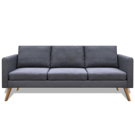 canape en stock acheter canapé 3 places en tissu gris foncé pas cher