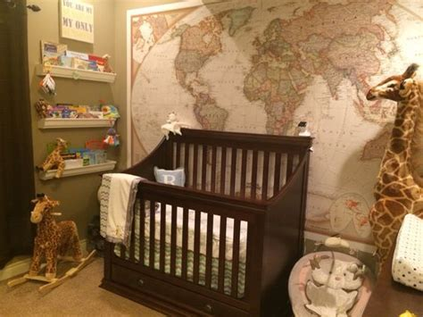 World Map As Wallpaper...travel Themed Nursery