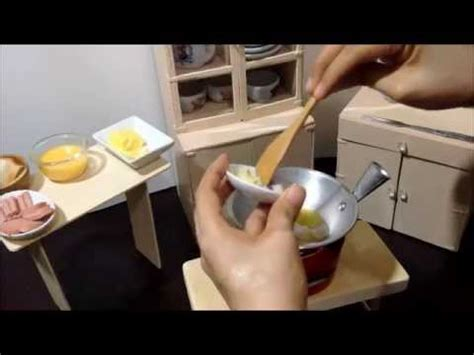 miniature cooking ep tiny scrambled egg sausage