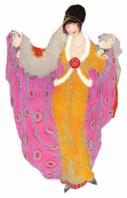 Illustration Artwork Antique Coat Winter 1914 Coats