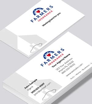 Give it some love and you will reap the benefits. Farmers Insurance business cards - Free templates and designs