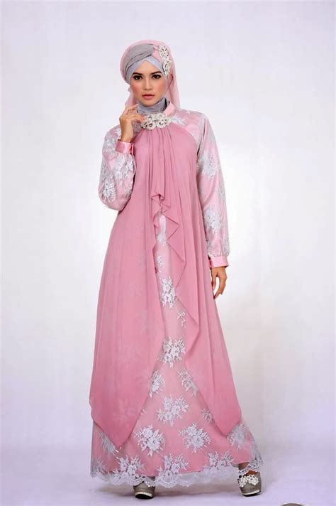 Wanita Jilbab Menyusui Gambar Model Baju Muslim Brokat Gamis Contoh Busana