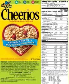 Cheerio Nutrition Food Label