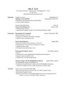 Exle Of Salon Receptionist Resume by Salon Manager Resume Berathen