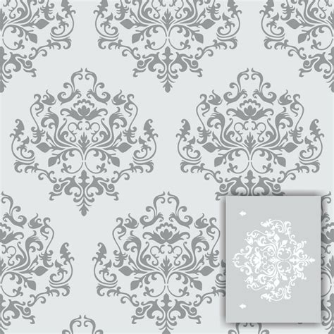 damask wall stencil kit  included large  faux