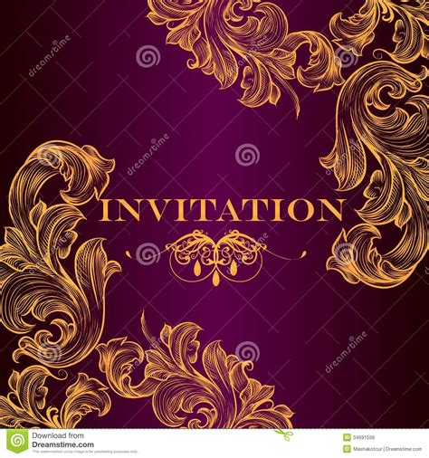 luxury royal invitation card  design royalty  stock