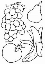 Fruit Basket Coloring Pages Printable Fruits Getcolorings sketch template