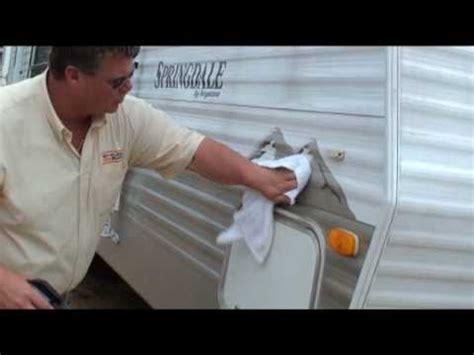 remove black streaks  rv camper exterior  vinyl