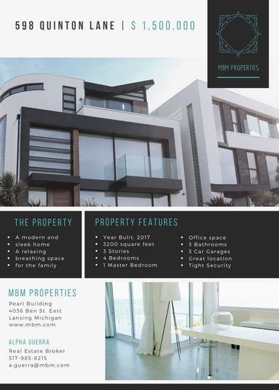 customize  real estate flyer templates  canva