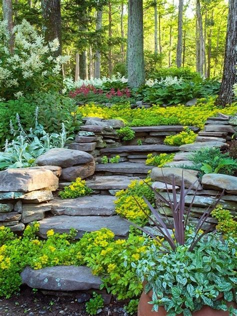 gardening on a hillside landscaping hillside steps hillside garden pinterest