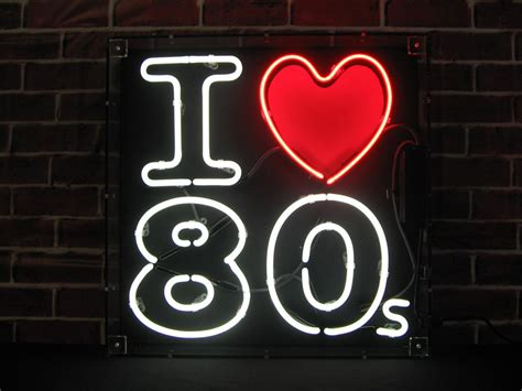 I Love 80s Neon Sign
