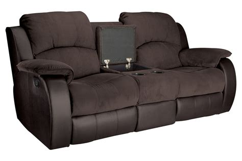 microfiber reclining sofa with console lorenzo microfiber reclining loveseat with console