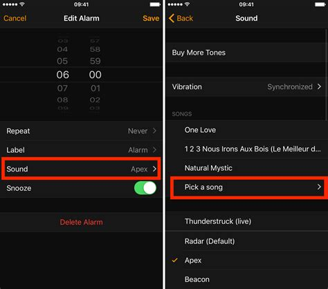 how to set alarm on iphone 6 how to set a song as your alarm sound on your iphone