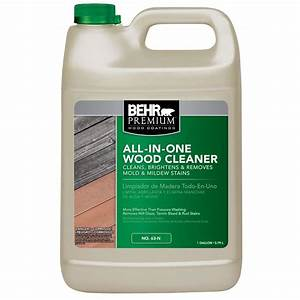 BEHR Premium 1-gal All-In-One Wood Cleaner-06301N - The