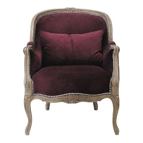 chambre ado petit espace fauteuil en velours prune montpensier maisons du monde