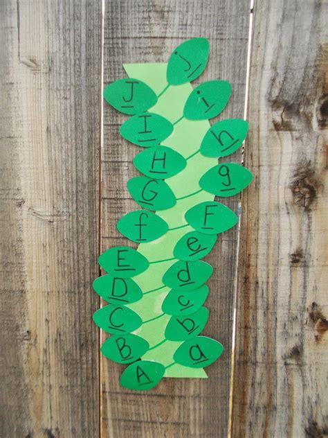 jack   beanstalk letter matching activity chipmans