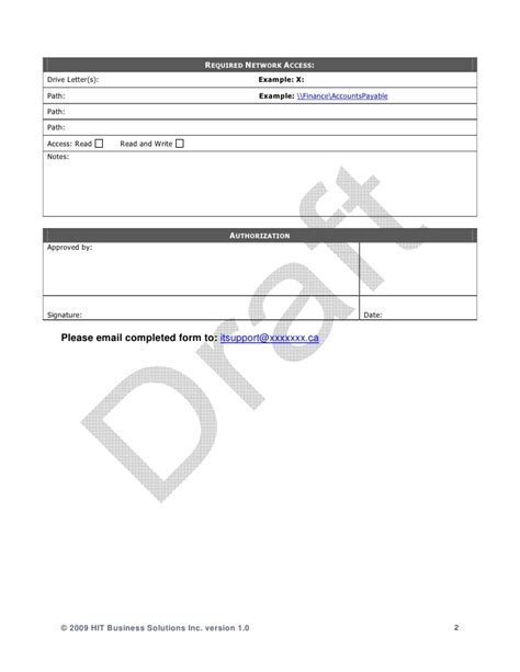 internet access request form template it employee change request form