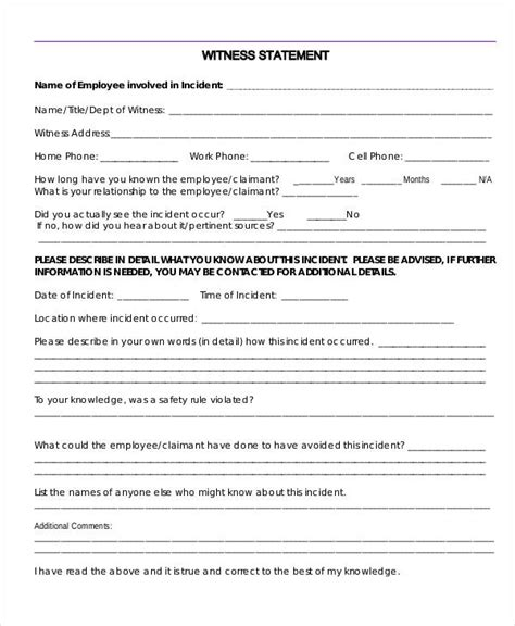 employee statement form 38 printable statement forms