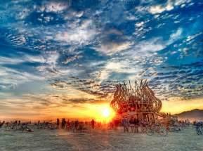 Temple Burning Man Sunrise