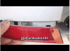 how to remove 2011 BMW X5 rear bumper & reflector YouTube