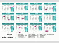 Kalender 2017 BadenWürttemberg