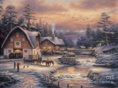 country cottage house plans country holidays 2 painting by chuck pinson