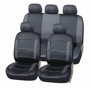 Sitzbezüge Auto Leder : auto sitzbez ge kunst leder schwarz grau universal ~ Kayakingforconservation.com Haus und Dekorationen