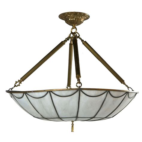 stunning leaded glass light fixture at 1stdibs