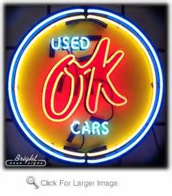 Chevy Vintage OK Used Cars Neon Sign only $399 99 Neon