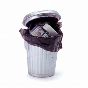 Full, Garbage, Can, Mini
