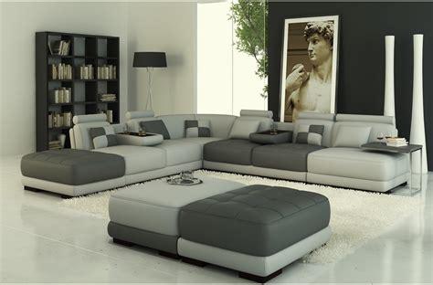 canapé d angle en u salon moderne cuir